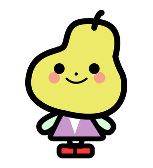 Simple pear character