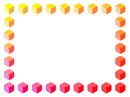 Colorful cube frame