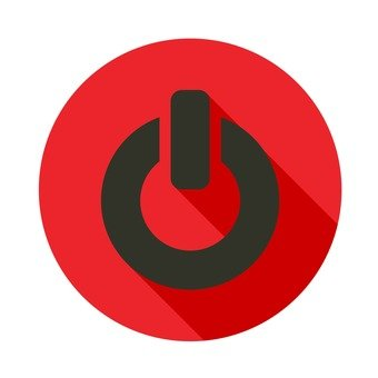 Flat icon - Power button