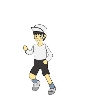 Children running in physical education