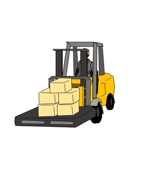 Transport with forklift