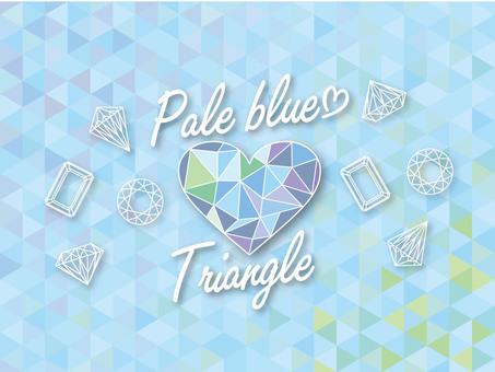 Light blue triangle mosaic