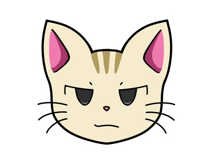Cat character 1_ angry face