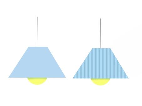 吊燈淺藍色