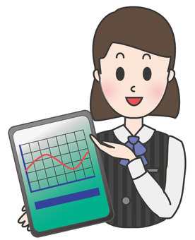 Financial Institution Women-Explained on Tablet