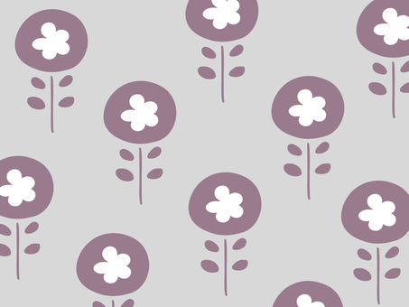 Nordic floral simple wallpaper pattern 04