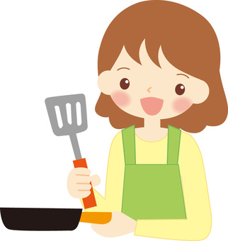 Cooking housewife