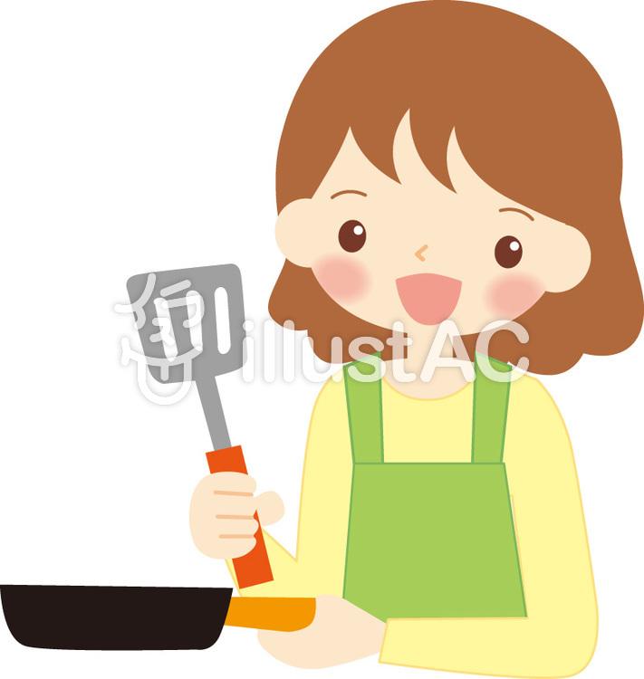料理する主婦イラスト No 387523無料イラストならイラストac