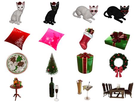 クリスマス・セット(16画像)