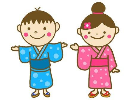 Yukata male and female