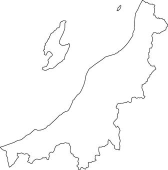 Niigata pref. _ Line drawing