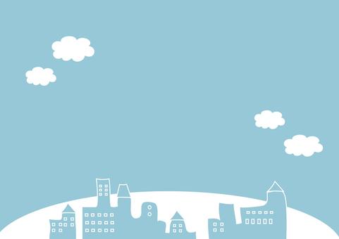 A city where the blue sky spreads
