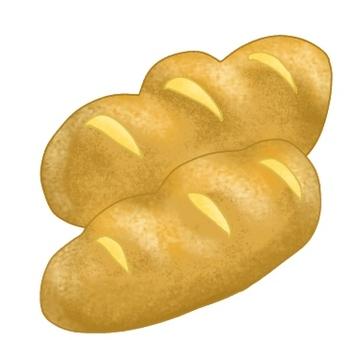 빵 2 개 흰색 배경
