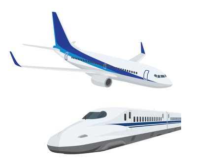 Shinkansen and Airplane Set 1