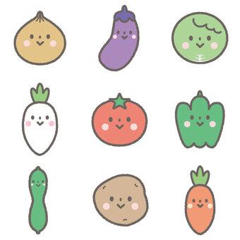 귀여운 야채 세트