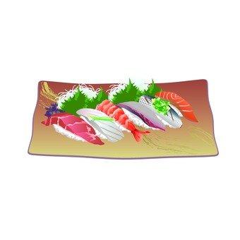 Sushi (brown dish)
