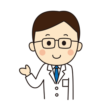 Doctor guiding with a smile