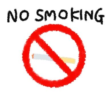 Illustration of no smoking NO SMOKING