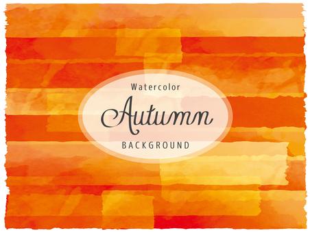 Background Clip picture Watercolor autumn red orange series