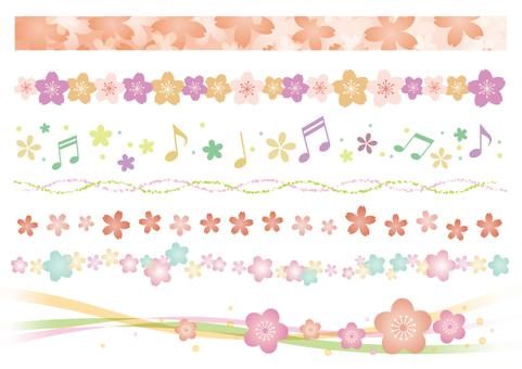 Spring material 061 Sakura's line set B