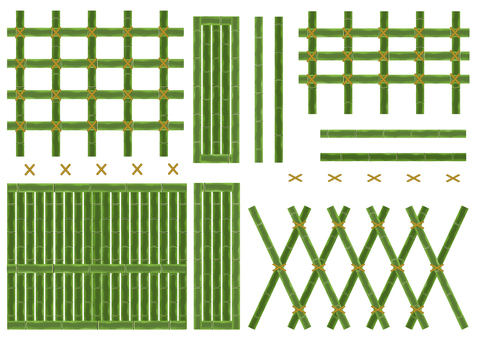 Green bamboo grid