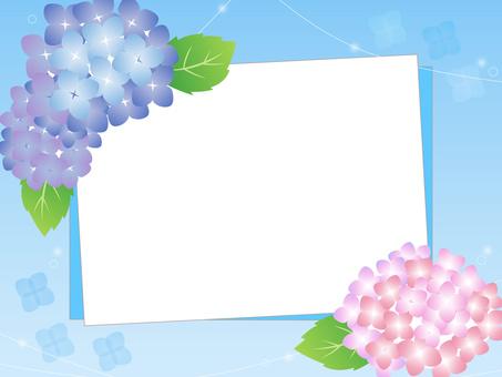 Hydrangea letter decorative frame