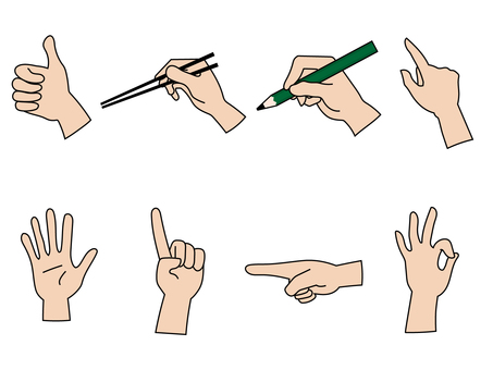 雙手以各種姿勢