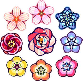 Spring flower motif