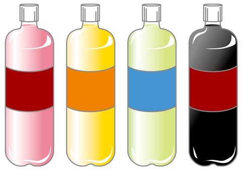 Various plastic bottles