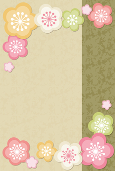 New Year card background material 8c