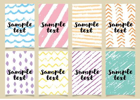 Hand painted color pencil background pattern 01