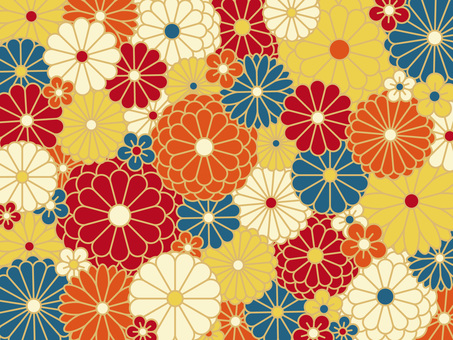 Background material <Chrysanthemum pattern>
