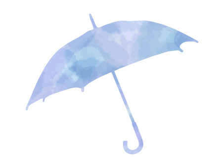 Watercolor umbrella silhouette