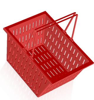 Shopping cart (red)