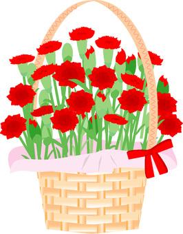 花籃6紅色康乃馨