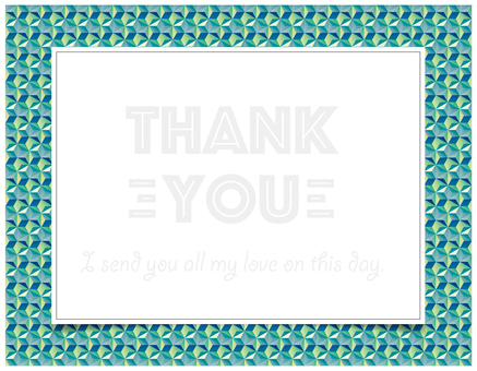 thank you card GREEN