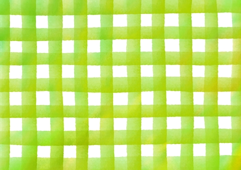 Check patterned watercolor texture · Yellow green