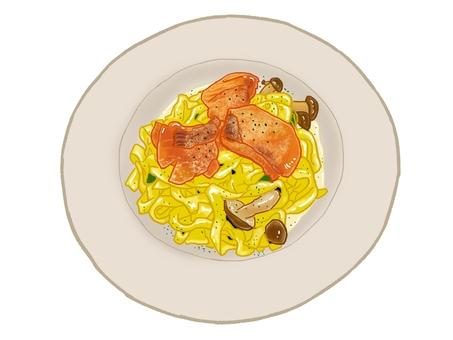 Salmon cream pasta