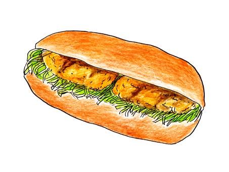 Croquette bread 02