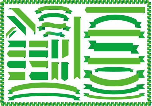 녹색 리본 프레임 테두리 배경 벽지 리본 장식 프레임