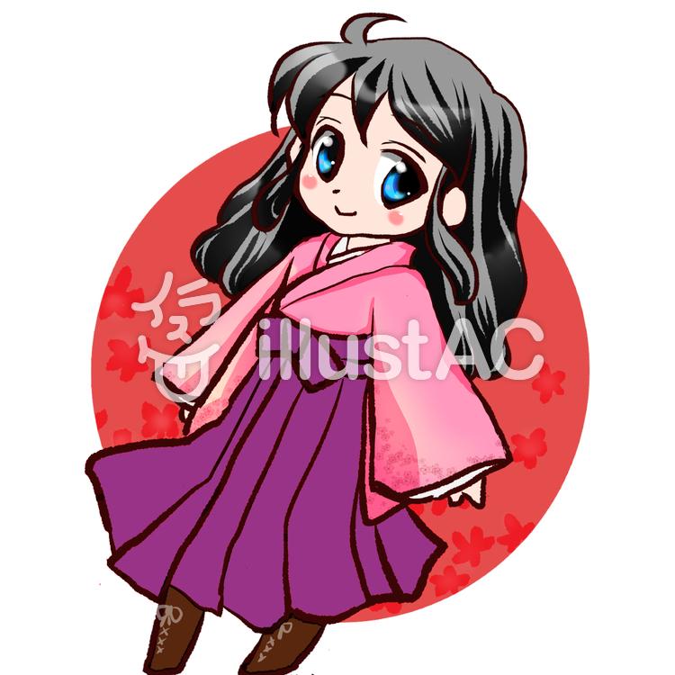 アイコン袴の女の子イラスト No 589180無料イラストならイラストac