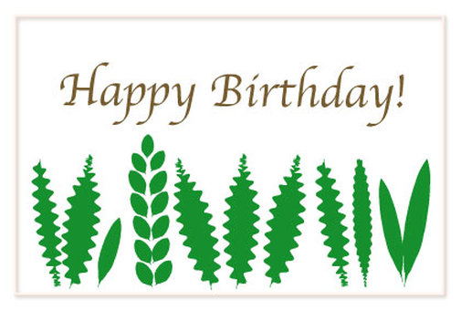Green leaf birthday card