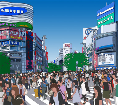 Shibuya Station intersection