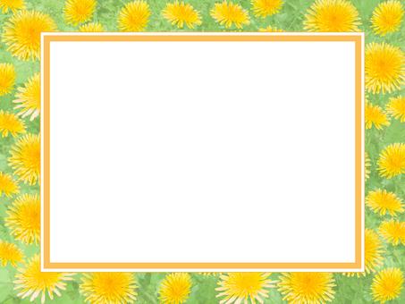 Dandelion pattern frame
