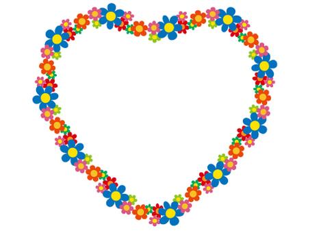 Cute flower hearts lease