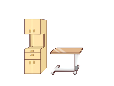 Floor headstool and side table