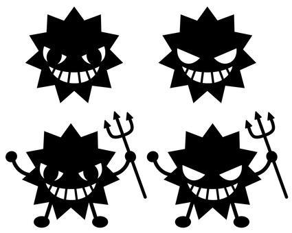 Virus silhouette