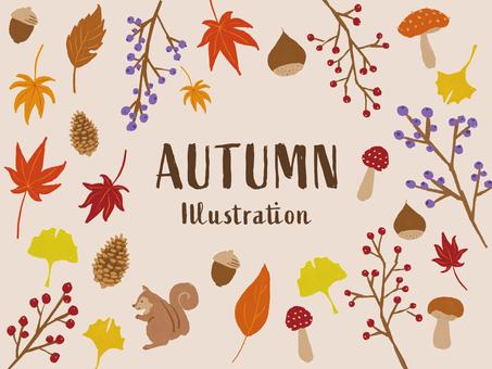 秋 手描き イラスト