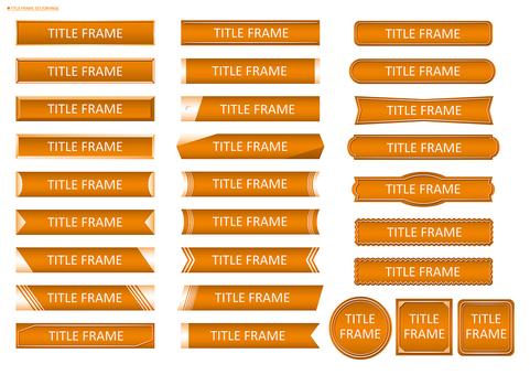 Title frame set 02 (orange)