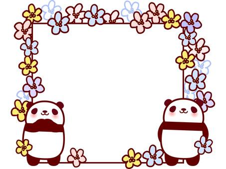 ぱんだフレーム 花(パステルカラー)
